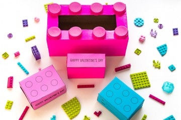 Building Block Valentine: Make this LEGO inspired Valentine for your classmates and this Building Block Valentine Box to go with it! This paper and recyclable craft is sure to be a hit!