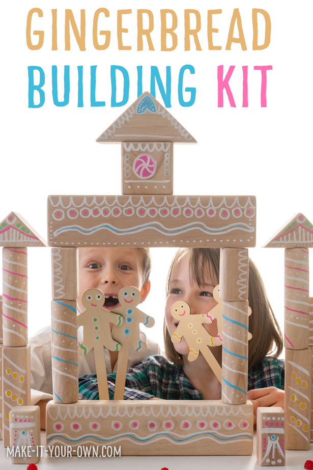 "Transform a plain children's building block set into this seasonal STEM/ STEAM activity! We show you how to make the building blocks look like gingerbread, so you can make a house, theatre etc. We also provide you with a free template to make gingerbread people puppets to use for dramatic play! Included is a free gift label and the patterns to make a gingerbread house or gingerbread man or woman ornament for a present topper! This Christmas craft is a great, ""make and play"" and makes a lovely holiday gift for preschoolers, kindergarteners or kids in elementary school!"