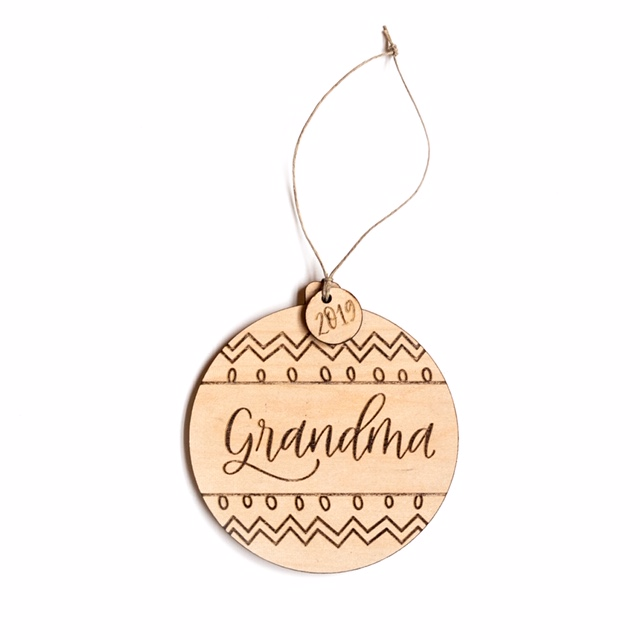 Justine Ma Designs Grandma Ornament
