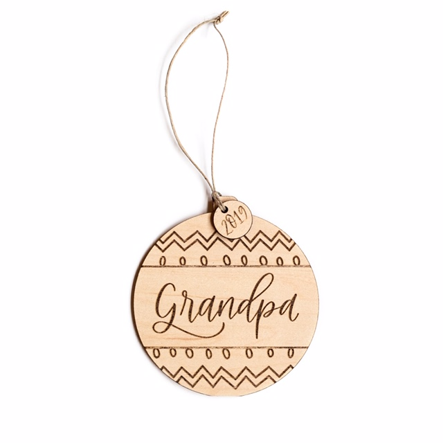 Justine Ma Designs Grandpa Ornament