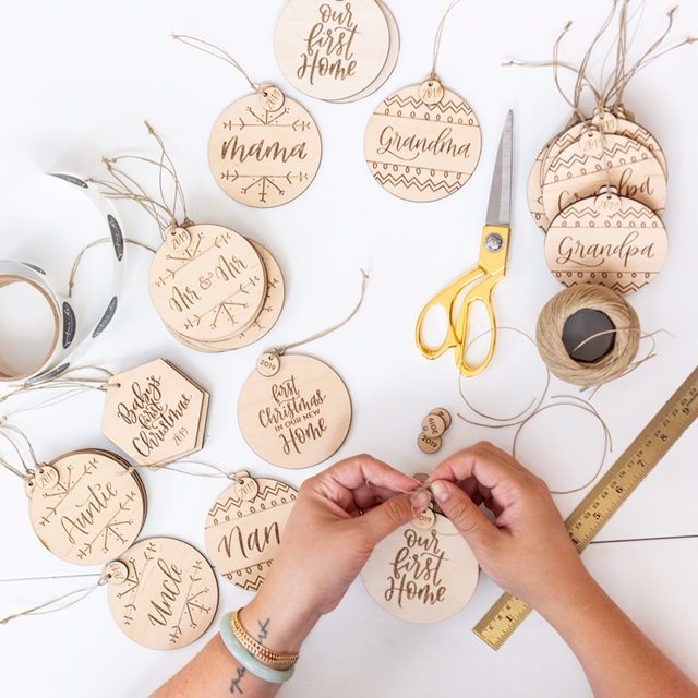 Justine Ma Designs Holiday Ornaments
