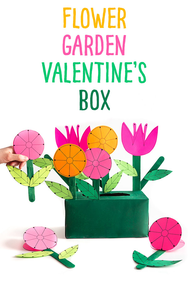 We provide you with free prinables to make both a flower garden box for collecting notes and a flower Valentine's Day card to give away to your classmates! Wouldn't it be cute to attach them to a packet of seeds for your friends!?