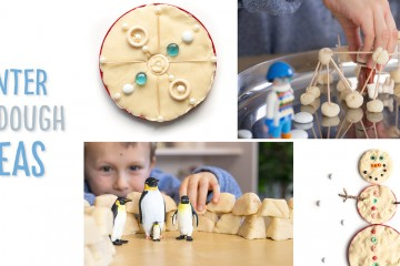 We show you 3 different winter play dough ideas to use at home or in the classroom: 1) Make your own snow man or snow woman with loose parts and nature finds. 2) Make 2 different types of snow forts and 3) Make a symmetrical snowflake These snowy play dough ideas develop one's fine motor skills and incorporate some math concepts as well (patterning, 3D geometry and symmetry), making them great for preschoolers and kindergarteners!