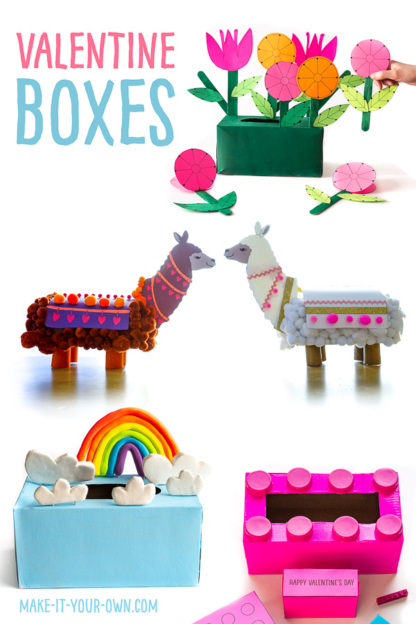 Valentine Box Ideas for Kids: We show you how to take recyclables and make these Valentine Day Boxes for kids to use at school for their Valentine's Day cards!