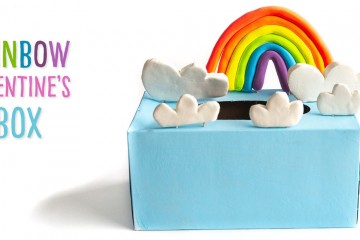 Transform a tissue box into a box to collect Valentine's Day cards! Make the rainbow and the clouds out of Crayola Model Magic to turn your box into the sky! This Valentine's day recycled craft is sure to bring a smile to kids' faces!