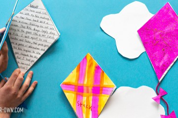 Kite Writing Activity for Kids: We provide you a planning template and kite template to create a booklet to write a story about a kite