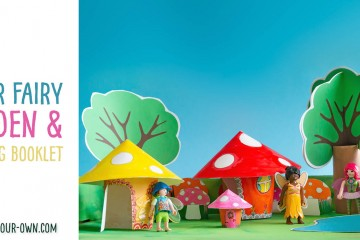 Paper Fairy Garden and Writing Booklet: With our free, printable templates, create a small world paper fairy garden to play with your toys! We provide you the templates to make this paper craft which would lend to hours of play and an imaginative narrative writing opportunity to follow!