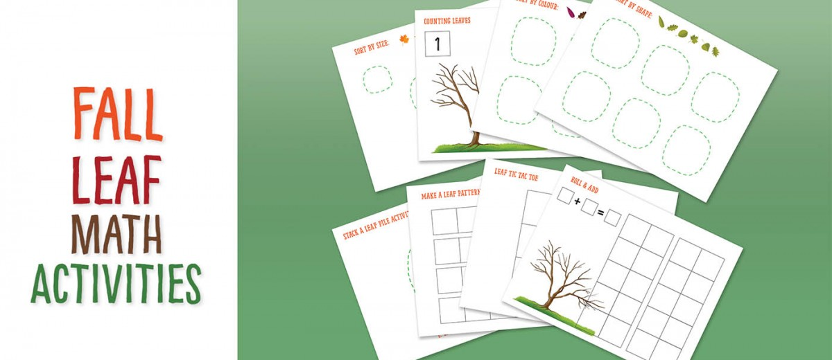 "Using the printables, children can practise these math skills through a Fall theme: - Counting within a 10 frame - Patterning - Sorting (by size, shape and colour) - Adding through a ""Roll and Count"" game And a few activities just for fun: leaf tic tac toe and stacking and blowing over a pile of leaves (great for developing one's fine motor skills)"