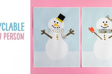 Using the provided template and reused paper (envelopes, magazines, gift wrap etc.) to make this recycled craft. This winter craft is a fun way to explore how you can reuse items to create a unique snowman or snow woman! If you create this kids' craft, we'd love to see it!