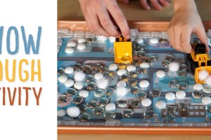 Snow Plough Play Tray: With these printable roads and snowy scene (http://make-it-your-own.com/snow-plough-play-tray/) you can create a winter sensory tray where children clear the snow. We also have several sensory ideas that you can use for snow!