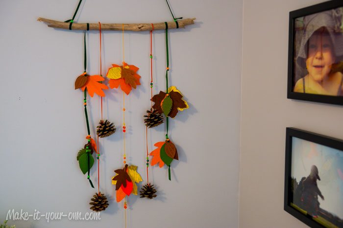 Fall Fun Traced Leaves Wall Hanging